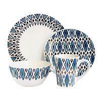 American Atelier Diamond Metallic 16 pc Dinnerware Set