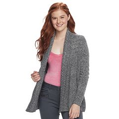 Juniors' Pink Republic Open Front Cardigan