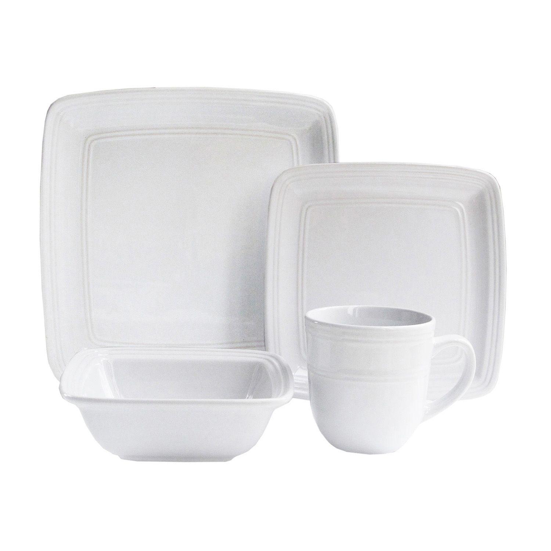 American Atelier Square 16-pc. Dinnerware Set  sc 1 st  Kohlu0027s & White American Atelier Dinnerware u0026 Serveware Kitchen u0026 Dining | Kohlu0027s