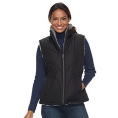 Women's KC Collections Quilted Reversible Vest