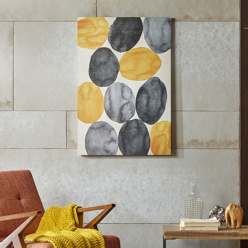 INK+IVY Painted Puzzle Canvas Wall Art