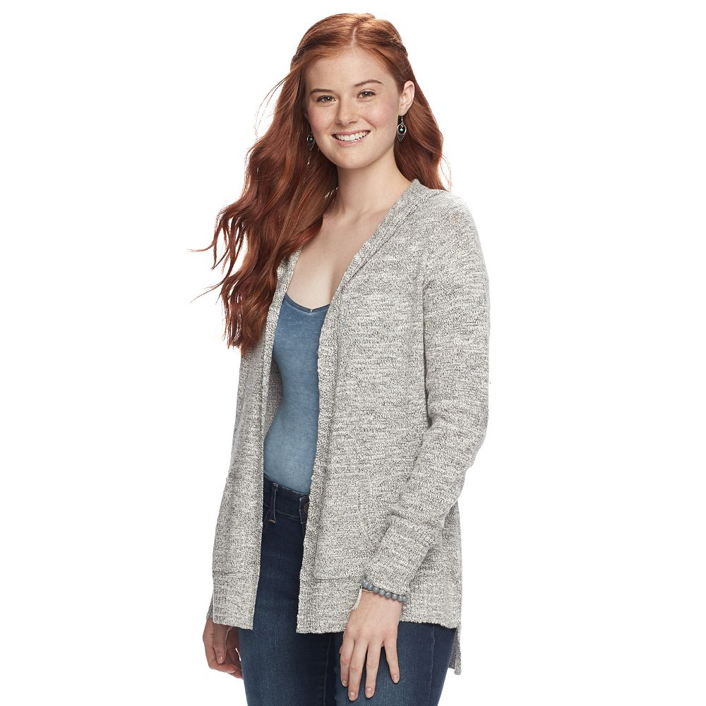 Pink Republic Hooded Cardigan