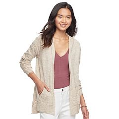 Juniors' Pink Republic Hooded Cardigan