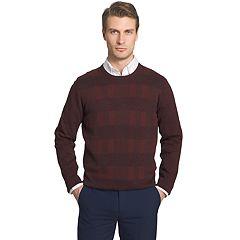 Men's Van Heusen Classic-Fit Plaid Crewneck Sweater