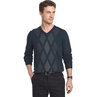 Men's Van Heusen Regular-Fit Argyle V-Neck Sweater