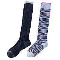 Girls 7-16 GOLDTOE 2-pk. Striped Knee High Socks