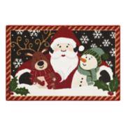 St. Nicholas Square® Santa, Reindeer & Snowman Christmas Rug