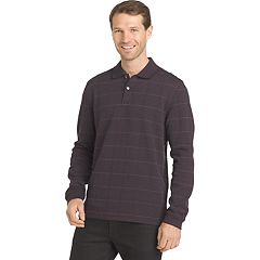 Men's Van Heusen Jaspe Classic-Fit Windowpane Flex Stretch Polo