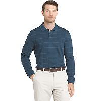 Men's Van Heusen Jaspe Classic-Fit Windowpane Stretch Polo