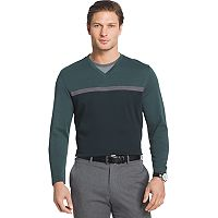 Men's Van Heusen Jaspe Classic-Fit Mock-Layer Stretch V-Neck Sweater
