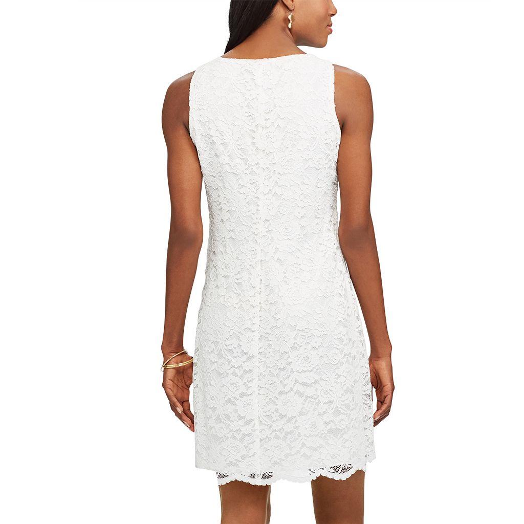 Petite Chaps Lace Shift Dress