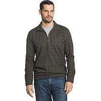 Men's Arrow Classic-Fit Windowpane Fleece Quarter-Zip Sweater