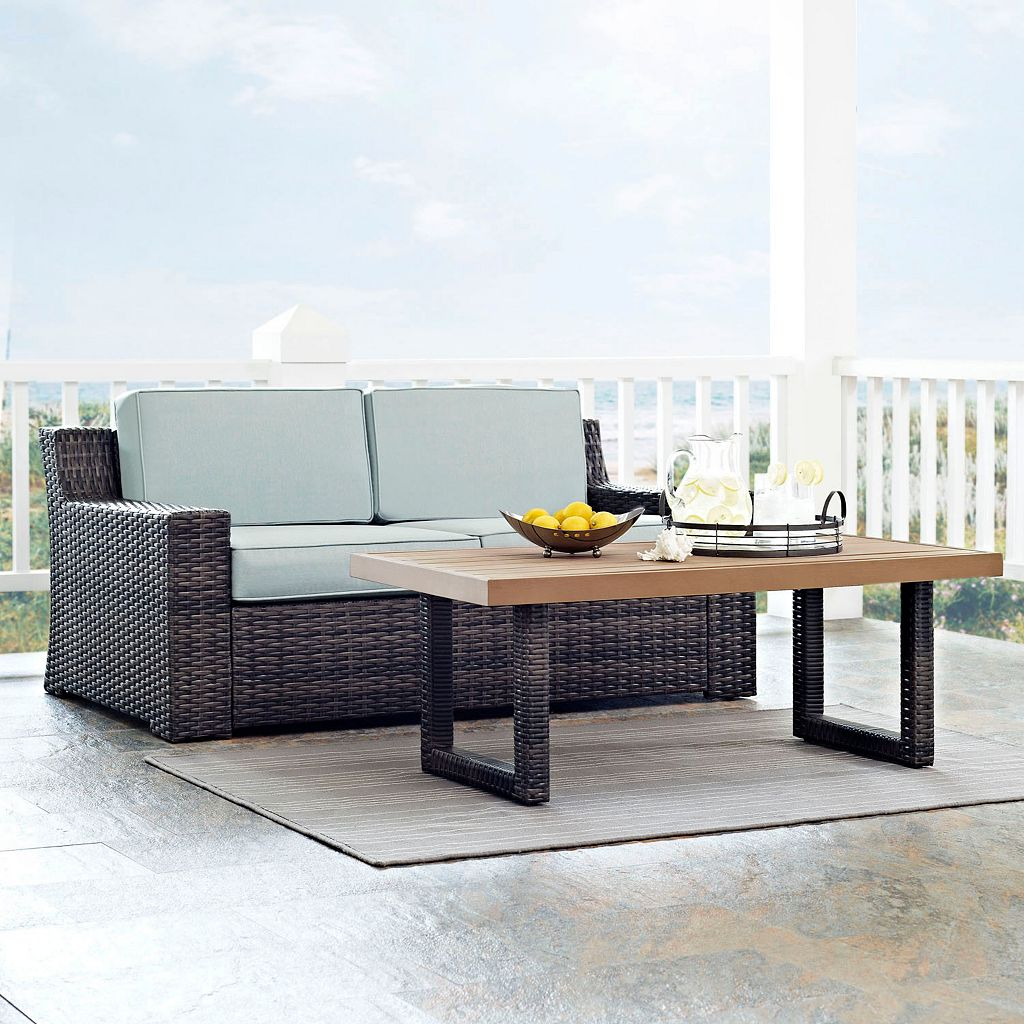 Crosley Furniture Beaufort Patio Loveseat & Coffee Table 2-piece Set