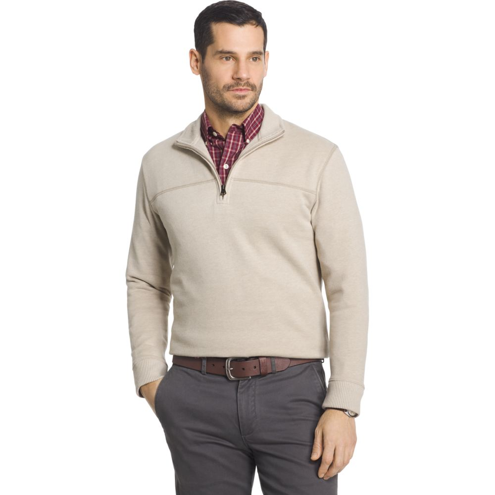 Arrow Classic-Fit Sueded Fleece Quarter-Zip Pullover