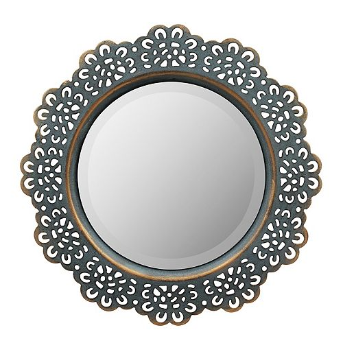 Stonebriar Collection Beveled Metal Wall Mirror