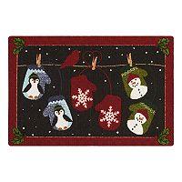 St. Nicholas Square® Snowman & Penguin Rug