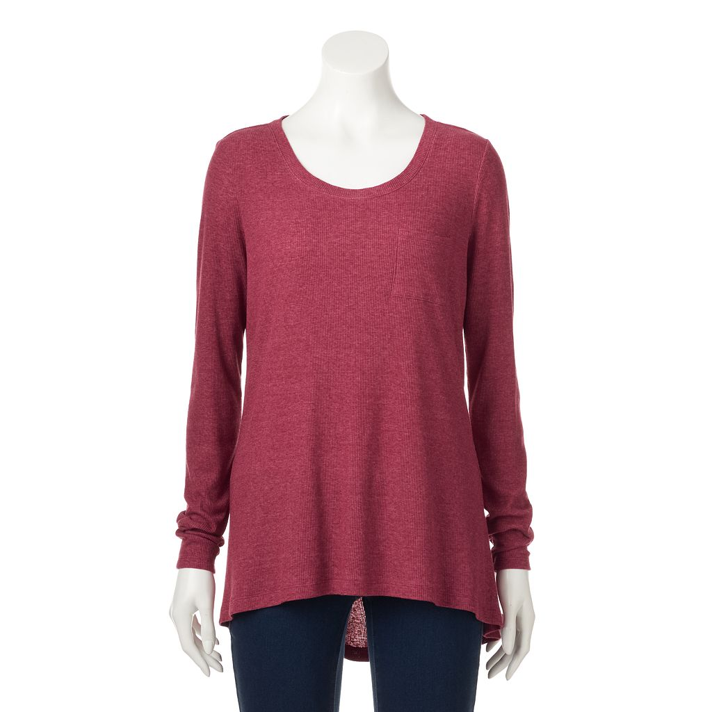 Women's SONOMA Goods for Life™ Ribbed High-Low Tee