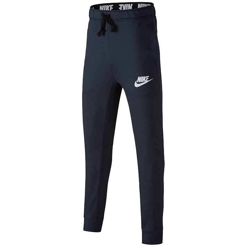 Boys 8-20 Nike Advance 15 Jogger Pants, Size: Large, Light Blue These boys' Nike pants will really go the distance to keep him comfy. Soft, breathable fabric Elastic waistband 2-pocket FIT & Sizing Tapered legs Fabric & Care Cotton, polyester Machine wash Imported Size: Large. Color: Light Blue. Gender: Male. Age Group: Kids. Pattern: Solid.