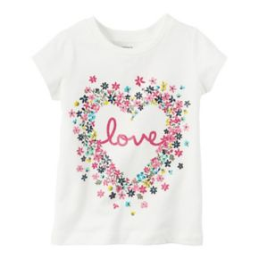 """Toddler Girl Carter's """"Love"""" Graphic Tee"""