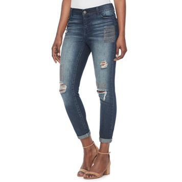 Women's Juicy Couture Ripped Skinny Ankle Jeans
