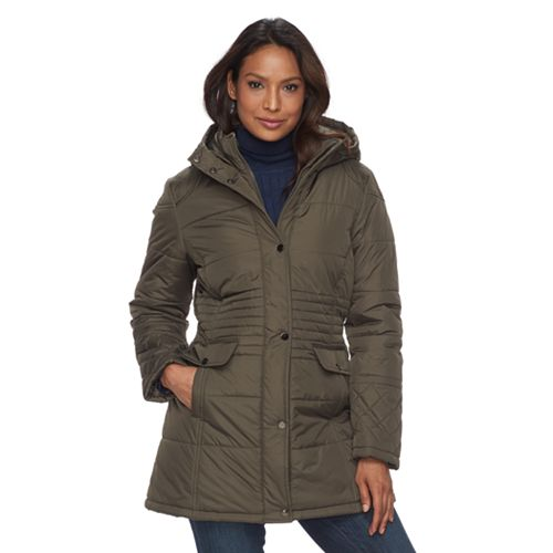 Women's KC Collections Quilted Hooded Walker Jacket