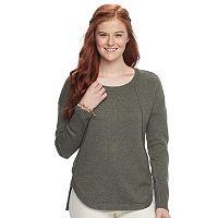 Juniors' Pink Republic Drop Shoulder Sweater