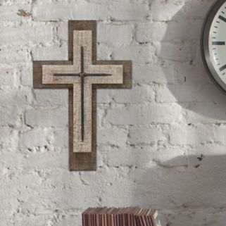 Stonebriar Collection Wood Cross Wall Decor