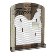 "Stonebriar Collection ""Welcome"" Photo Clip Chicken Wire Wall Decor"