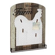 Stonebriar Collection 'Welcome' Photo Clip Chicken Wire Wall Decor