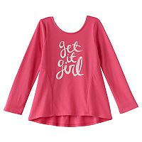 Girls 4-10 Jumping Beans® Pieced Graphic High-Low Tunic