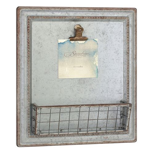 Stonebriar Collection Photo Clip Mail Holder Wall Decor