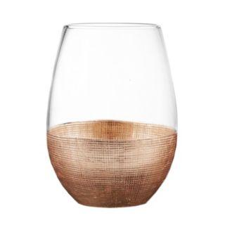 Fitz & Floyd Linen 4-pc. Stemless  Wine Glass Set