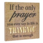 "Stonebriar Collection LED ""Thank You"" Wall Decor"