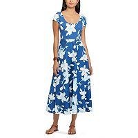 Women's Chaps Floral Fit & Flare Dress