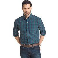 Men's Arrow Regular-Fit Plaid Button-Down Shirt
