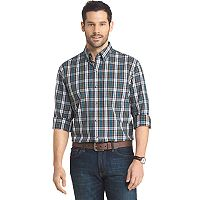 Men's Arrow Regular-Fit Plaid Button-Down Shirt