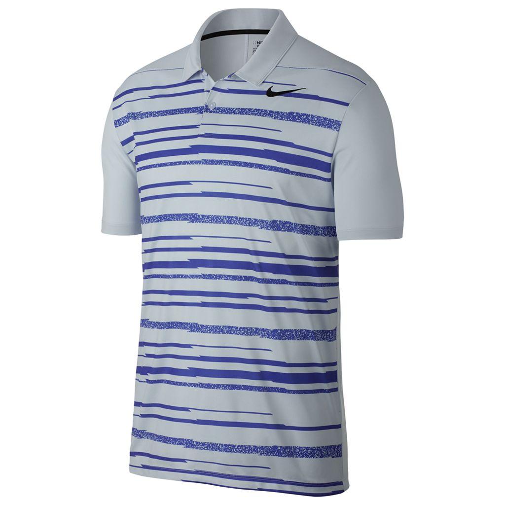 Men's Nike Essential Regular-Fit Dri-FIT Striped Performance Golf Polo