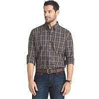 Big & Tall Arrow Regular-Fit Plaid Button-Down Shirt