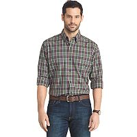 Big & Tall Arrow Regular-Fit Plaid Button-Down Shirt