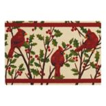 St. Nicholas Square® Cardinal & Holly Leaf Rug by Nourison