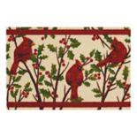 St. Nicholas Square® Cardinal & Holly Leaf Rug