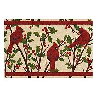 St. Nicholas Square® Cardinal & Holly Leaf Rug
