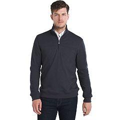 Big & Tall Van Heusen Flex Classic-Fit Stretch Fleece Quarter-Zip Pullover