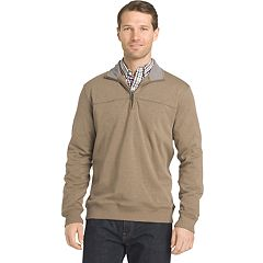 Big & Tall Van Heusen Flex Classic-Fit Stretch Fleece Quarter-Zip Pullover
