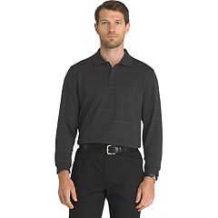 Big & Tall Van Heusen Jaspe Classic-Fit Windowpane Stretch Polo