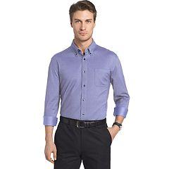 Big & Tall Van Heusen Traveler Regular-Fit Stretch Performance Dress Shirt