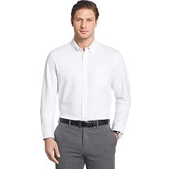 Big & Tall Van Heusen Traveler Regular-Fit Stretch Performance Dress Shirt