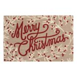 "St. Nicholas Square® ""Merry Christmas"" Rug by Nourison"