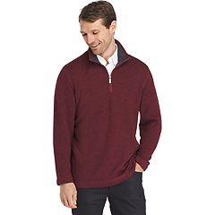 Big & Tall Van Heusen Classic-Fit Sweater Fleece Quarter-Zip Pullover