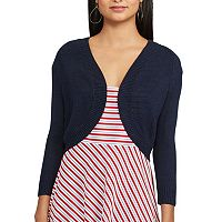 Women's Chaps Open-Front Crop Cardigan